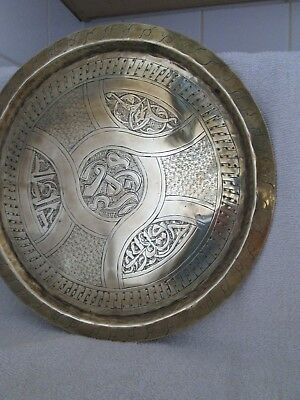 Vintage Middle Eastern Brass Tray