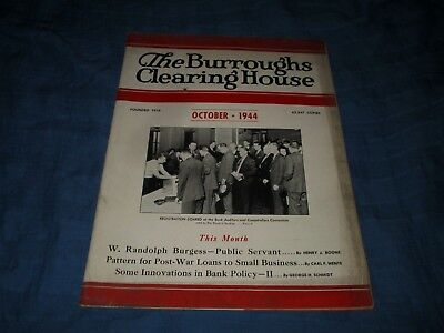 The Burroughs Clearing House Magazine-October 1944-Banking Industry Magazine