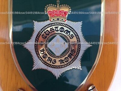 Collectible British Hong Kong Custom & Excise Dept wooden plaques, pre-owned