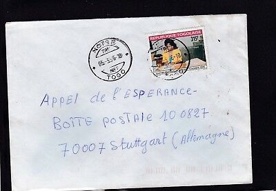 Togo 2380 WELTPOST TAG BRIEF COVER LETTRE TOGOLAISE POSTE