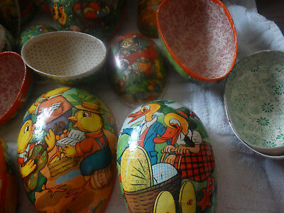 9 German Democratic PAPER MACHE EASTER CANDY EGGS All Sizes