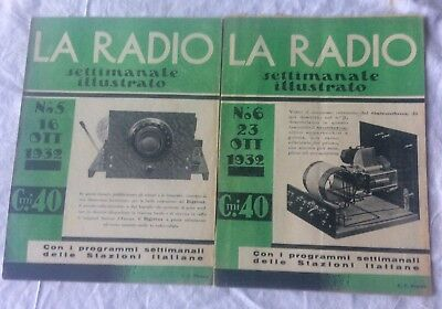 lotto 2 La Radio settimanale illustrato n 5-6 1932