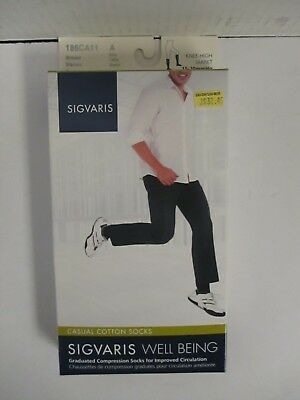 Sigvaris Well Being Casual Cotton Socks Size A Brown - Rc 6287