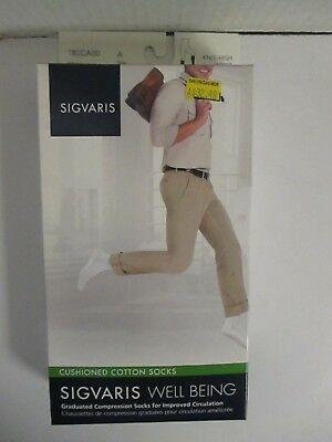 Sigvaris Well Being Cushioned Cotton Socks Size A White - Rc 6293