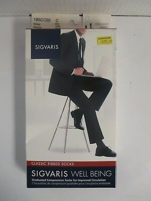 Sigvaris Well Being Classic Ribbed Socks Size C White - Rc 6273
