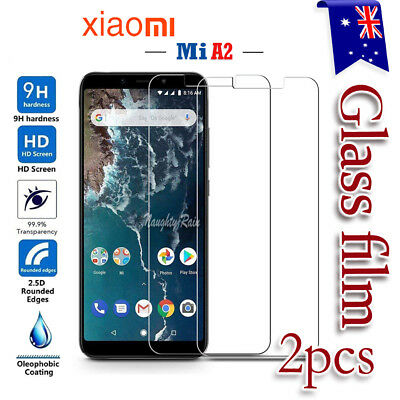 2x Xiaomi Mi A2 / Mi 6X Tempered LCD Glass Film Guard / Plastic Screen Protector