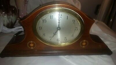 Antique Edwardian mantle clock.Lovely old clock.Not working.Nice inlay.