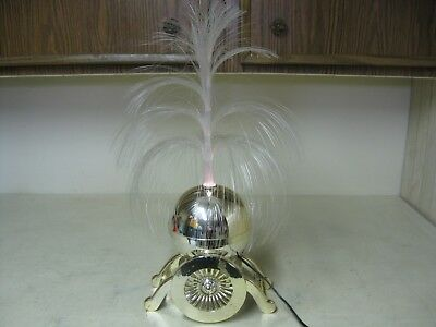 Collectible Gold Colored Plastic Carriage Fiber Optic Light Lamp Works