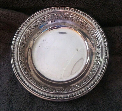 Reed & Barton Silver Plate 6'' Candy & Nut  Bowl 1201 FPNS Vintage Antique