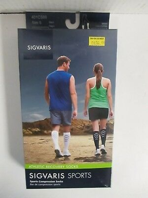 Sigvaris Sports Athletic Recovery Socks Size Small Black - Rc 6300