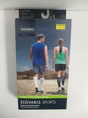 Sigvaris Sports Athletic Recovery Socks Size Medium Black - Rc 6302