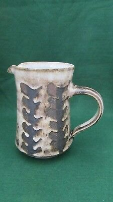 Studio pottery jug by briglin pottery