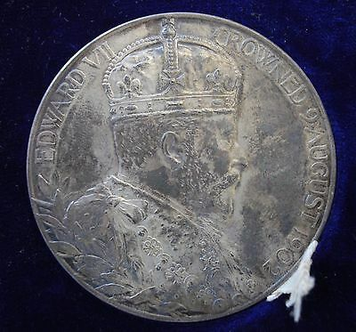 1902 King Edward Vii & Queen Alexandra 55Mm Silver Coronation Medal With Box