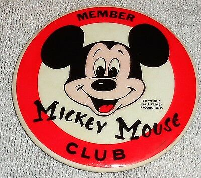 Mickey Mouse Club Member Official Mouseketeer Badge Pin Button Walt Disney Prod