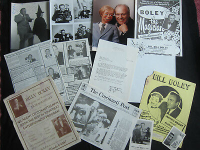 BIG LOT of Memorabilia from VENTRILOQUIST BILL BOLEY, Magician magic, LOTS!!!
