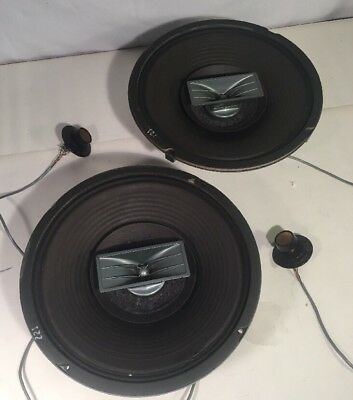 2 Vintage Electro-Voice EV Wolverine LT12 3-Way Speakers w/Control Knobs **Read