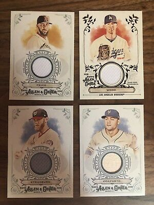 2018 Topps Allen and Ginter Lot of 4 Relic Cards-David Price, Strasburg, & more!
