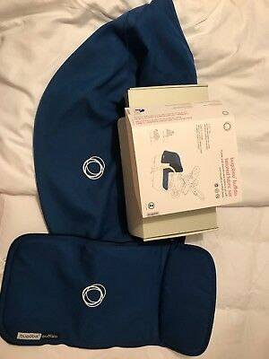 Bugaboo Buffalo Extendable Hood And Apron Set, Royal Blue, RRP £94.95