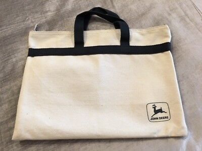 John Deere Canvas Bag - Old Leaping Down Deer Logo - Highly Collectible!!