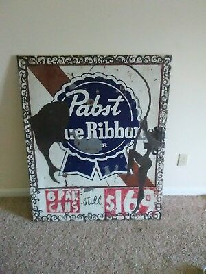 Huge Vintage pabst blue ribbon beer sign