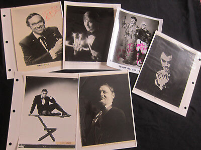 BIG LOT of 6 Magician Memorabilia, Magic, 8x10 Photographs photos Vintage Signed