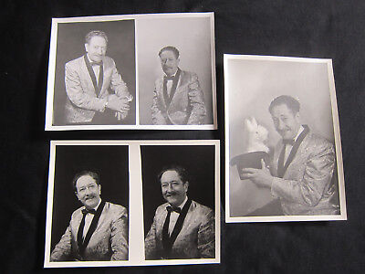 Lot of VINTAGE MAGICIAN DUKE STERN Photographs, Photos, 5x7, Magic Memorabilia