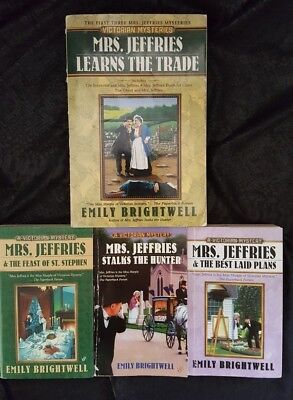 Lot Of 4 Mrs. Jeffries  Mystery Books By Emily Brightwell  (LOt 1)