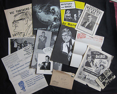 BIG LOT of Memorabilia from Vintage Magicians magic, Publicity, Advertisements