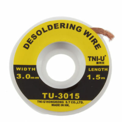 Multiple 5 Feet /1.5M 3mm Desoldering Braid Solder Remover Cleaning Wick Wire
