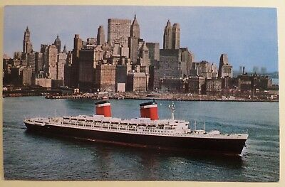 ss United States . U.S. Lines, Ocean Liner Leaving NY Cruise Flag Ship Boat USL