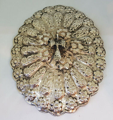 Antique Beautiful Chinese Export Solid Silver Mirror 367 G.