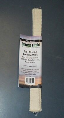 "Bright Light 7/8"" Replacement Wick #2 Burner Large Dietz Lantern  5 Pcs 12"" Long"