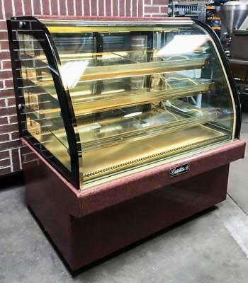 "2016 Leader Mcb48 S/c 48"" Marble Curved Glass Refrigerated Bakery Display Case"
