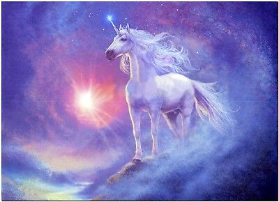 Beautiful Unicorn Horse Canvas Print Poster 18X12""