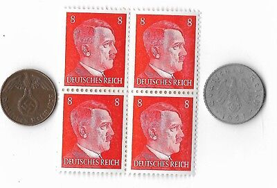 6 Original Rare Vintage Old German wwii ww2 Germany Coin Stamp Great Collection