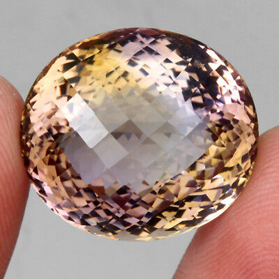Clean 44.30ct. Big 100%natural Top Bi Colors Purple Yellow Ametrine Unheated