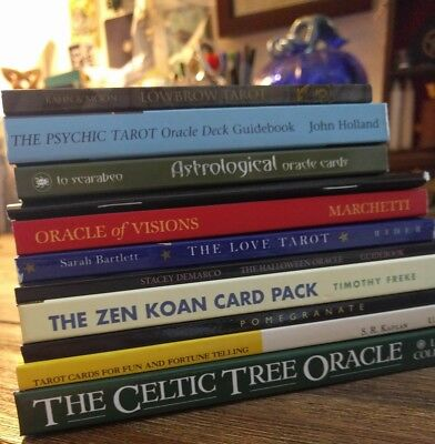 11 MAGICAL Tarot & Oracle BOOKS and Booklets NEW *or* VGC Occult CELTIC Zen Koan