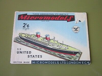 SS United States Paper Model Kit in Good Condition