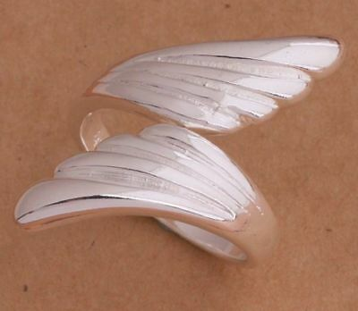 New Beautiful Angel Feather Arrow Vintage Silver Ring Uk Free P&p