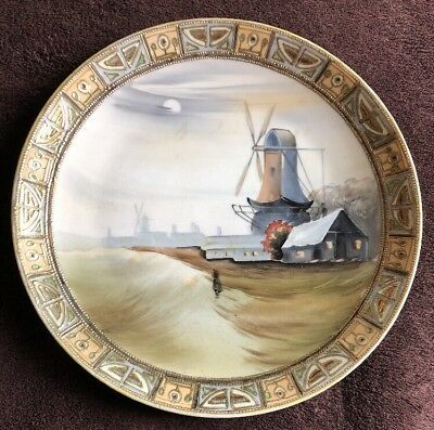 Hand Painted Nippon Windmill Plate