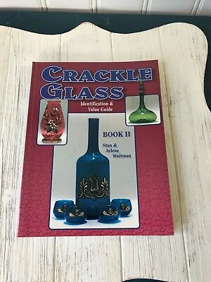 Crackle Glass Stan Weitman Collectibles Reference Book II Guide Soft Cover 1998