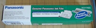 Panasonic Ink Film (KX-FA93) FOR KX-FHD331 KX-FHD332 KX-FHD351 (NEW)
