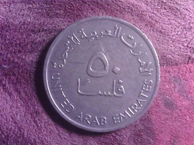 United  Arab  Emirates    50   Fils    1989       Au15
