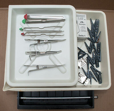 Nice assortment darkroom print Tongs set, clip, trays and more