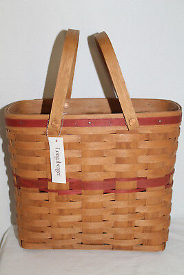 1987 Longaberger Vip Sales Basket, Award/ Incentive, Red Accents