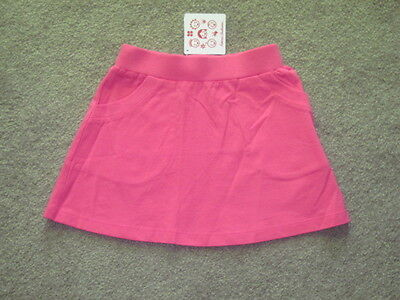 Nwt Hanna Andersson Rose Pink Cotton Knit Skirt 110, 4-6 Two Front Pockets