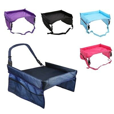 Safety Waterproof Snack Baby Car Seat Table Kids Play Travel Tray Multi-colors