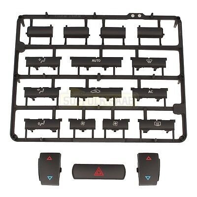 Saab 93 9-3 03-06My Acc Climate Control Panel Non Heated Seats Button Repair Kit