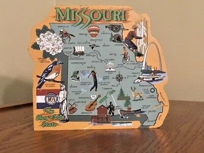 "Cats Meow Missouri ""show Me"" State Map 2002"