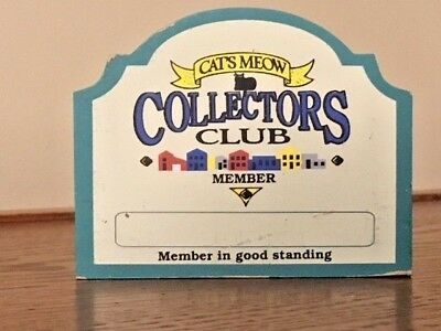 Cats Meow Collectors Club Member In Good Standing 1997
